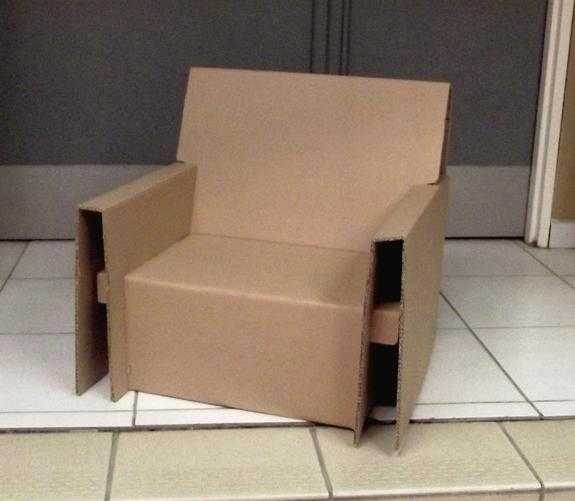 fauteuil en carton ondul carton dessin cie. Black Bedroom Furniture Sets. Home Design Ideas