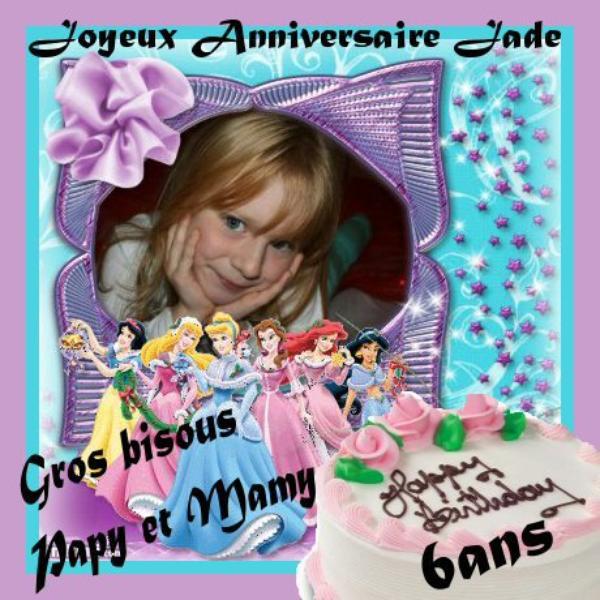 Je souhaite un joyeux anniversaire ma petite fille jade qui 6 ans aujourd 39 hui - Anniversaire 3 ans fille ...