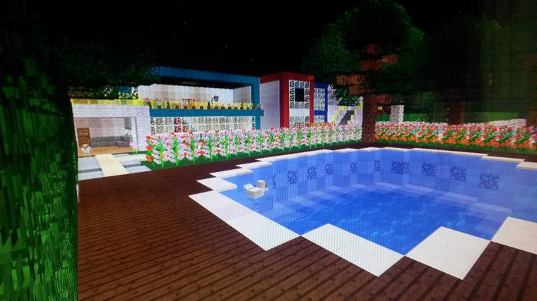 Petite maison moderne jardin merlimont 62 for Porte and minecraft