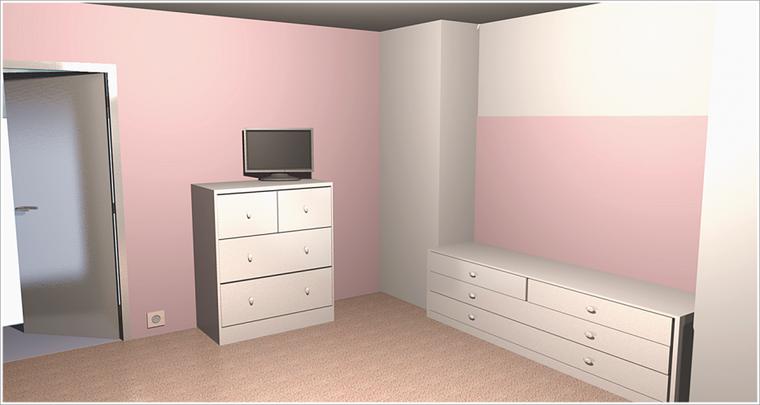 Id e d co et couleur pour les murs corps de ferme en auto r novation for Couleur chambre fille rose et gris
