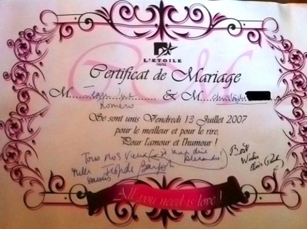 Mariage gay jean luc rom ro mari par frigide bargot le - Les meilleurs positions pour faire l amour au lit ...