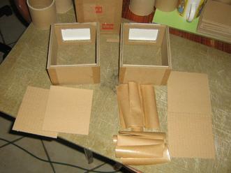 Fabrication de boites en carton avec couvercles de paquets de lingettes blog de creationsph - Fabrication maison en carton ...