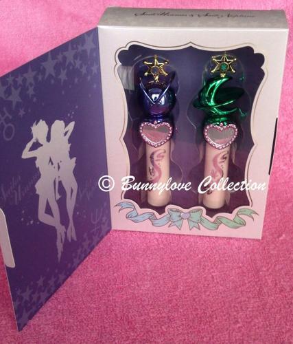 Bandai - Sailor Moon 20th Anniversary - Miracle Romance - Sailor Uranus & Sailor Neptune Twin Lip Cream Rod