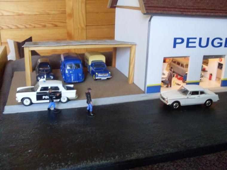 articles de dioramas 1 43 tagg s garage peugeot. Black Bedroom Furniture Sets. Home Design Ideas