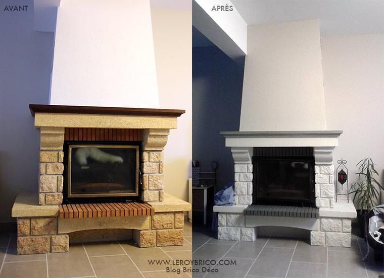transformes une chemin e rustique en moderne sans tout. Black Bedroom Furniture Sets. Home Design Ideas