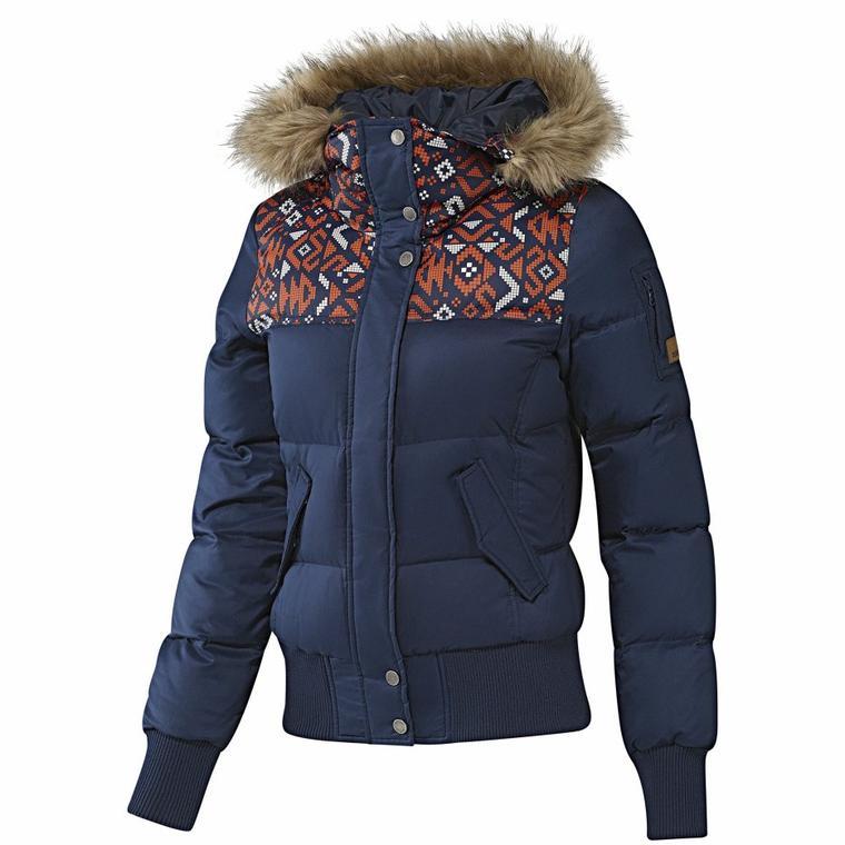 adidas femmes allover print down jacket tendance mode femme. Black Bedroom Furniture Sets. Home Design Ideas