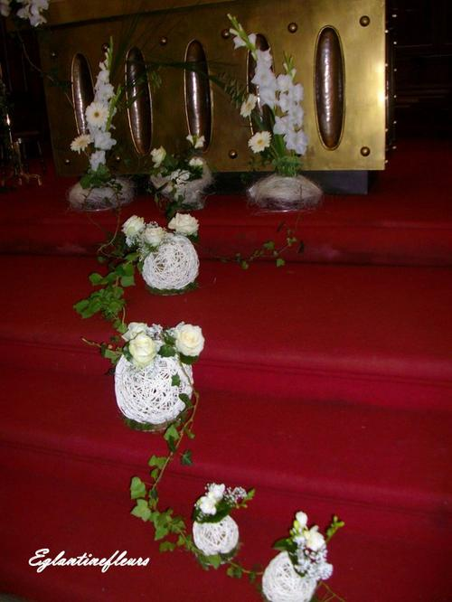 Mariage : décoration de lEglise - Blog de eglantinefleurs