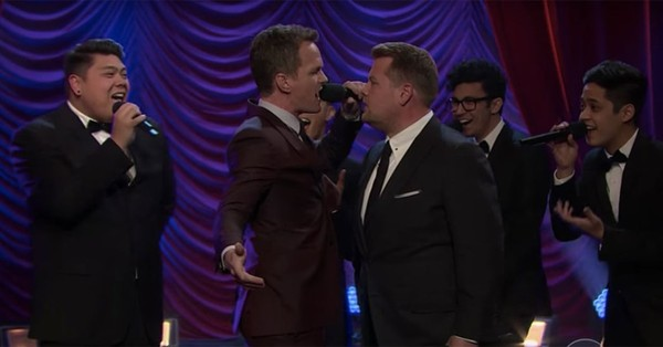 Neil Patrick Harris Splits His Pants During Epic Broadway Riff-Off With James Corden