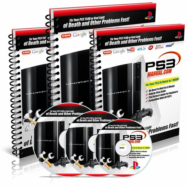 PS3 Manual™ - Repair PS3 YLOD, Green light, red light and the red screen today!