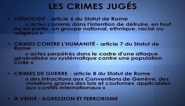 Lorsque les juridictions nationales n'ont pas la volonté (..) pour juger de tels crimes