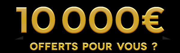 Jeu cheque 10 000 euros