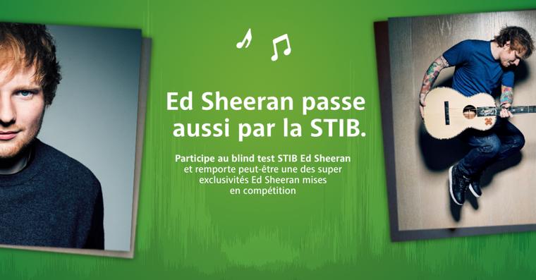 Ed Sheeran passe aussi par la STIB.