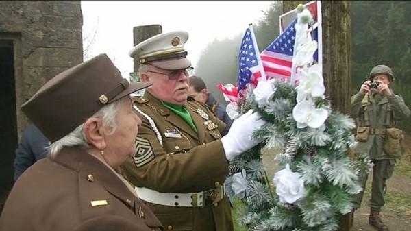Bihain : hommage rendu à la 83ème Division d'Infantrie US (11-01-2016) - TV Lux