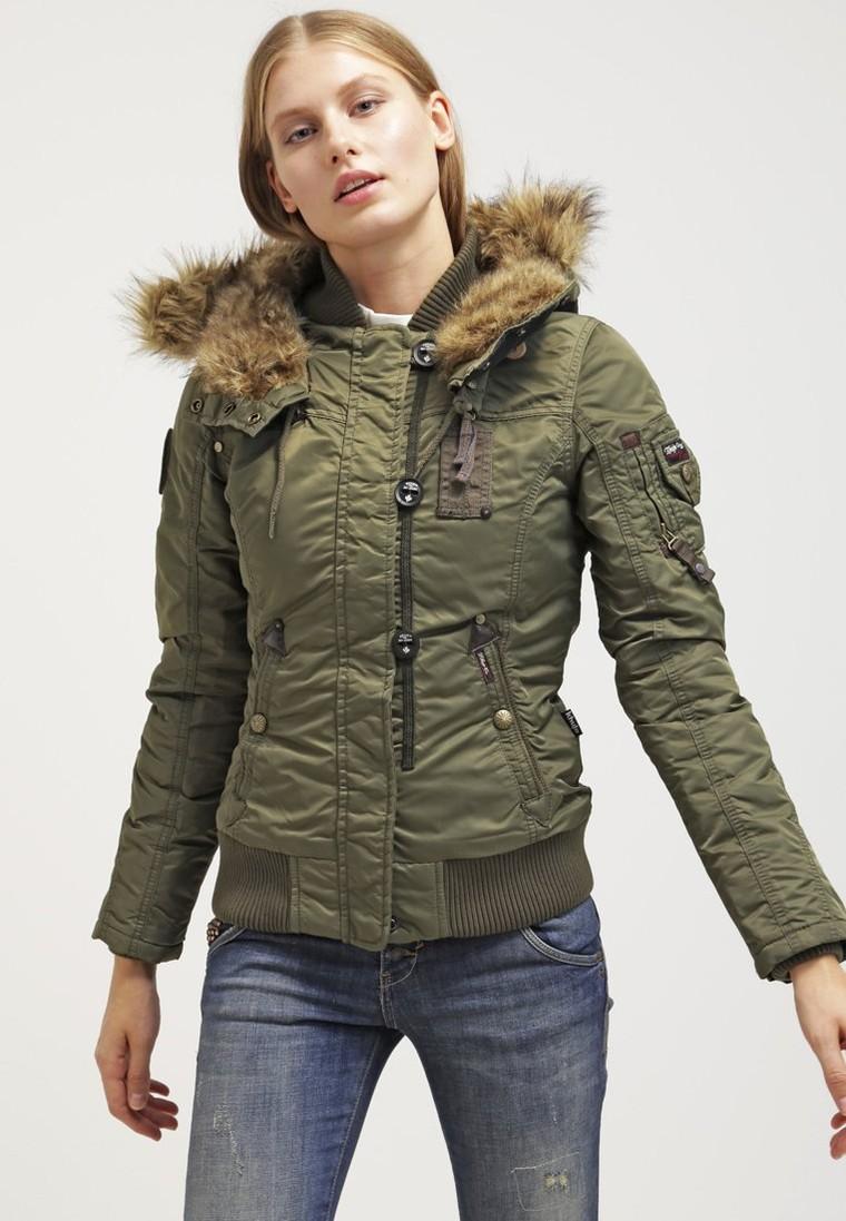 khujo rova veste d 39 hiver olive veste d 39 hiver femme zalando tendance mode femme. Black Bedroom Furniture Sets. Home Design Ideas