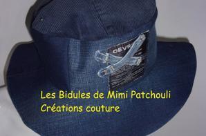 Nouveau chapeau jean recyclé taille 56-58