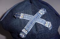 casquette gavroche en jean recyclé