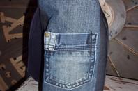 Besace homme/femme en jean recyclé
