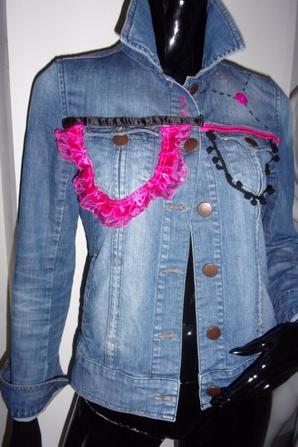 Veste en jean personnalisée taille 40/42