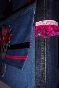 Besace femme en jean recyclé