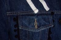 Veste en jean personnalisé en taille 42