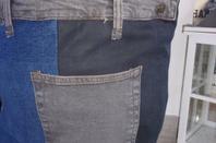Grand bac de rangement sur mesure en jean recyclé