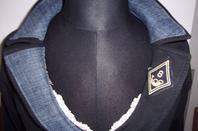 Nouveau veste personnalisée en jean recyclé