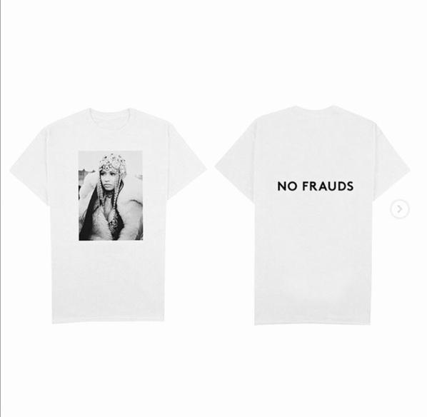If you want a No Frauds Shirt or Sweater go to NickiMinajStore.Com
