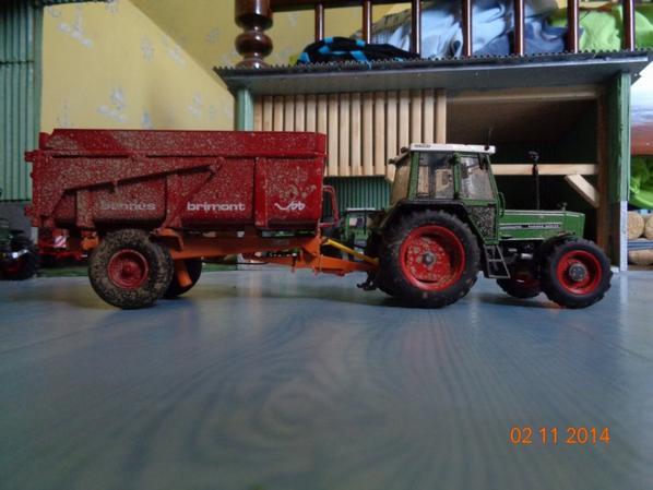 Moisson du maïs avec le Fendt Farmer 309 lsa et la benne Brimont bb8 8T