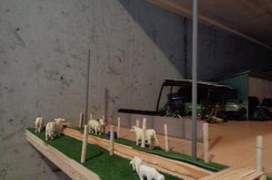 Évolution du diorama avec les murs, les pilliers électriques et le réservoir a carburant