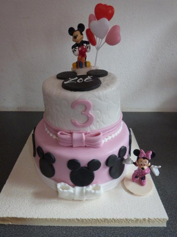 birthday cakes mickey et minnie