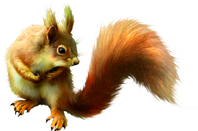 ________☼♥/)_♥☼♥l ecureuil et la feuille_____☼♥