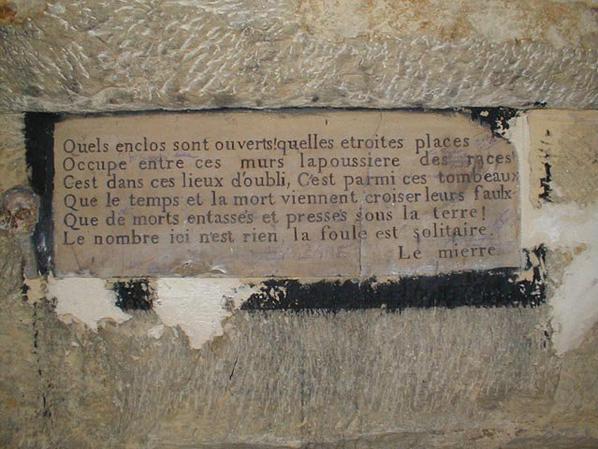 L'ossuaire de la place Denfert Rochereau  (Catacombe de paris) Prt 7