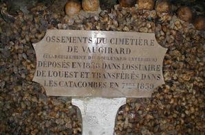 L'ossuaire de la place Denfert Rochereau  (Catacombe de paris) Prt 12