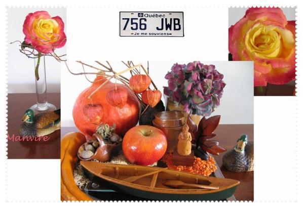 Aux couleurs de l'automne, et en souvenir de voyages au Québec...