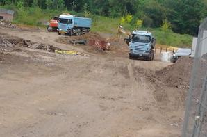 Group VDRT - Photo des travaux + deux Scania.