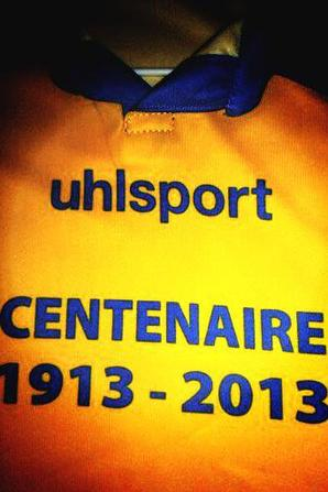 Maillot du centenaire du club, Flocage Intersport