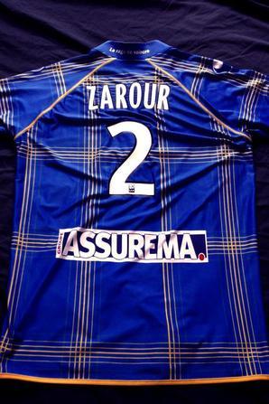 Maillot extérieur de Zarour ligue 2 saison 2012/2013 (70euros)