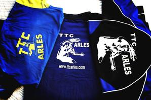 Mes maillots du Tennis de table club arlesien (T.T.C.A.)