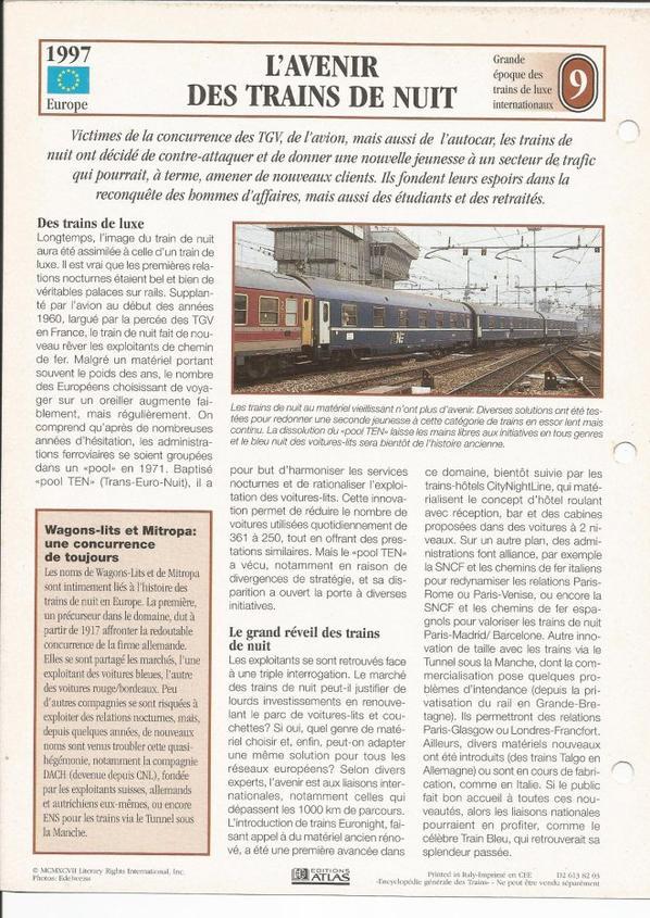 L'AVENIR DES TRAINS DE NUIT