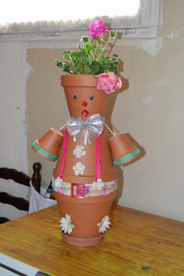 Mon bonhomme en pot de fleur