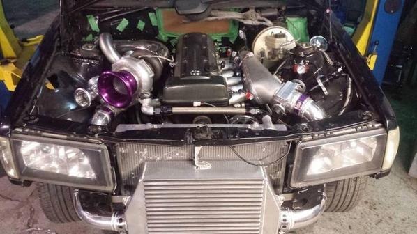 Mercedes 190E 1993 // moteur Toyota Supra 2JZGTE 611whp de Manuel from Québec Drift Around