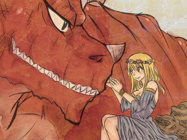 natsu x lucy x dragon