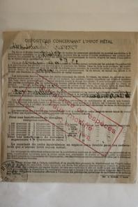 Lettre et document ww2
