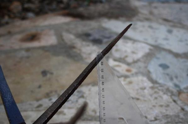 Chausse trappe ( pied de corbeau ) pour chevaux de plus de 25 à 27 cm de haut.