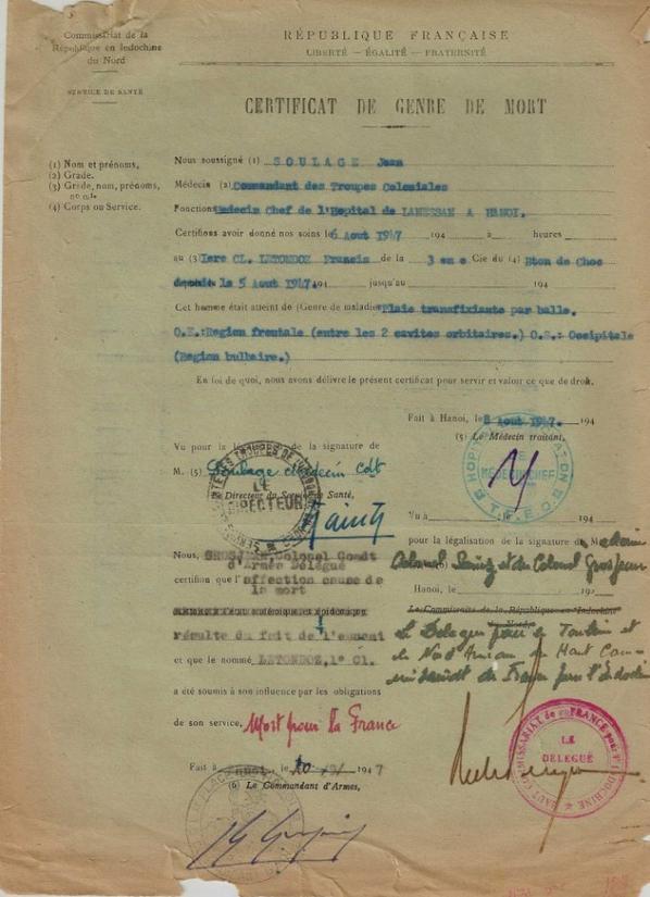 Document exceptionnel d'Indochine !! ( DU 1er Bataillon de choc )