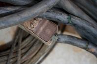 Câble transmission Allemand WW2 et Housse d'antenne + céramique US .
