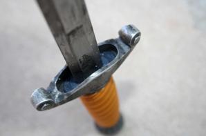 Dague de la HEER, la marque de lame est ici celle de la Solingen Metallwarenfabrik Stöcker et Co.( Don de M Frédéric GUTTIEREZ )