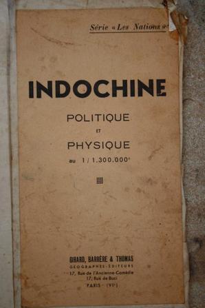 Carte d'Indochine renseignée !!!