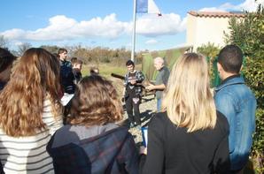 Visite d'une classe de 3 em du collège de Capendu !