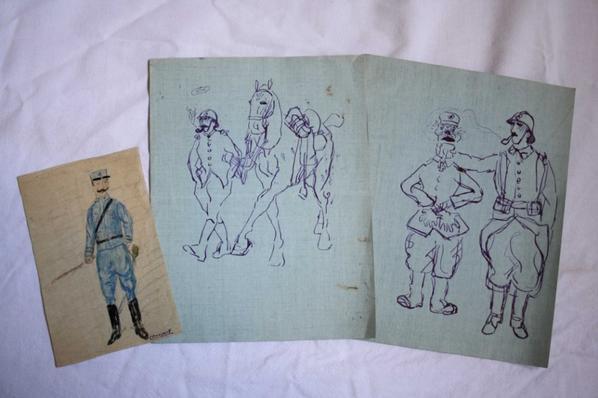 Dessins et caricature de Eugène Carpot .